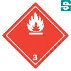 Naklejki ADR Klasa 3 Materiały ciekłe zapalne 250 x 250 mm.