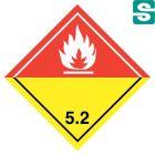 Naklejki ADR Klasa 5.2 Nadtlenki organiczne  100 x 100 mm.