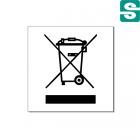 naklejki kosz elektrośmieci 100 mm na 100 mm