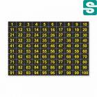 Naklejki z numerami od 1 do 100, od 101 do 200 i od 201 do 300 Czarno żółte