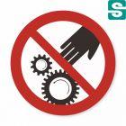 Nalepki Nie dotykać elementów ruchomych