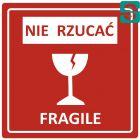 Nalepki Nie rzucać Fragile 96 x 96mm
