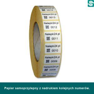 etykiety na roli, z papierów samoprzylepnych