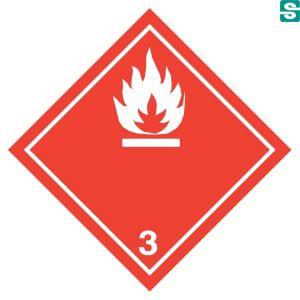 Naklejki ADR Klasa 3 Materiały ciekłe zapalne 100 x 100 mm.
