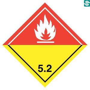 Naklejki ADR Klasa 5.2 Nadtlenki organiczne  250 x 250 mm.