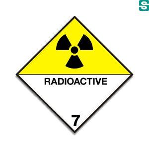 Naklejki ADR Klasa 7 Materiały promieniotwórcze  250 x 250 mm.