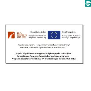 Naklejki Unia Europejska Europejski Fundusz Rozwoju Regionalnego