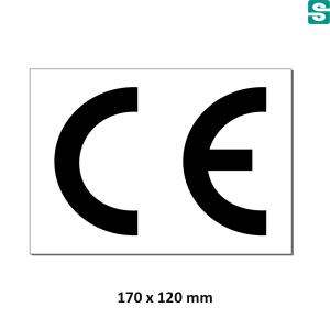 Nalepki CE z folii białej samoprzylepnej 170x120mm