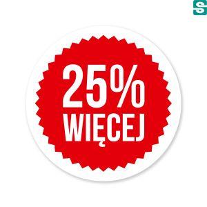 Naklejki 25 procent więcej