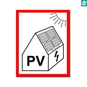 Naklejki, nalepki, etykiety, Photovoltaikanlagen warnschild, PV