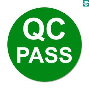 Naklejki QC Pass drugiej jakości