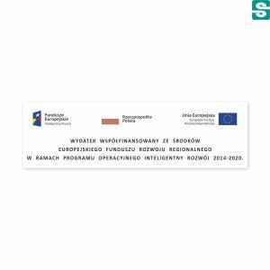 Naklejki Unia Europejska Europejski Fundusz Rozwoju Regionalnego 75x22