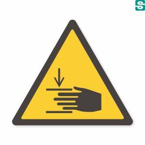 Nalepki Groźba zgniecenia dłoni