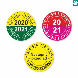 Etykiety inspekcyjne fi 25mm