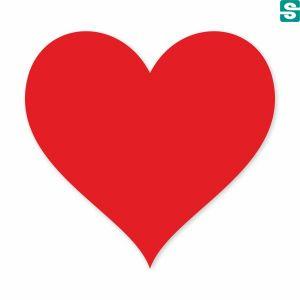 Nalepki Serca, naklejki w kształcie serca
