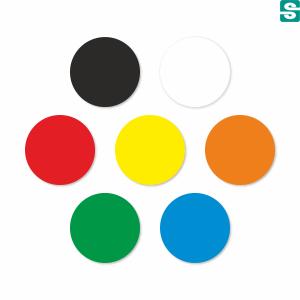 kółka kolorowe, okrągłe etykiety fi10mm