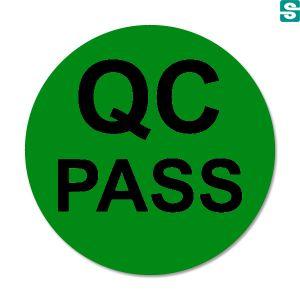 Naklejki QC Pass fi 10mm