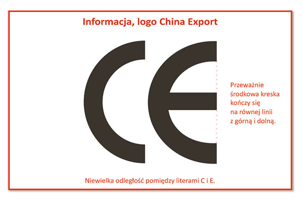 Informacja, logo China Export