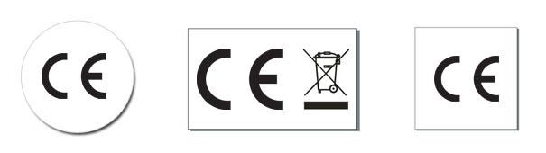 Nalepki CE kosz