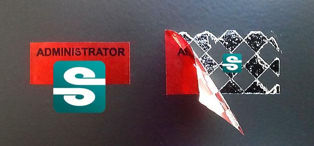 Stickery folia VOID metaliczna czerwona szachownica
