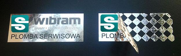 Stickery folia VOID srebrna błyszcząca szachownica